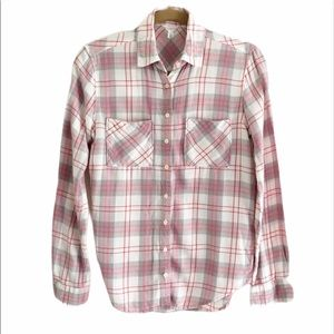 Aeropostale button down plaid flannel shirt.